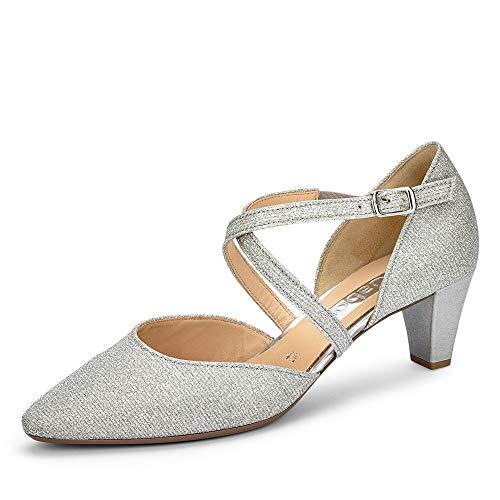 Gabor Shoes Damen 01.363.61 Pumpe, Silber, 39 EU