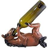 NXWL Botellero Vino Portabotellas de Vino Caballo Marrón