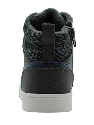Amazon Essentials Zapatilla de Deporte con Cordones Fashion-Sneakers, Gris, 1 Little Kid