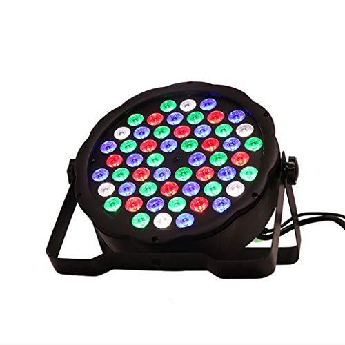 LED Flat Par 54x3W RGB-Farben-Beleuchtung Strobe DMX for Atmosphäre Disco DJ-Musik-Party im Club Dance Floor Bar Verdunklungs Bühnenlampen 3.4