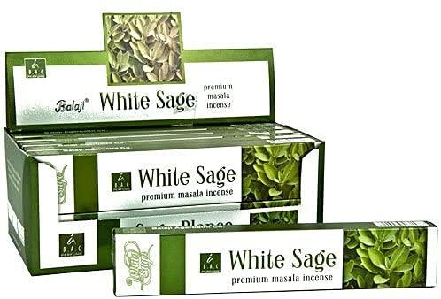 BALAJI Incienso White Sage 15 GR. X 12 Cajas 180 GR.