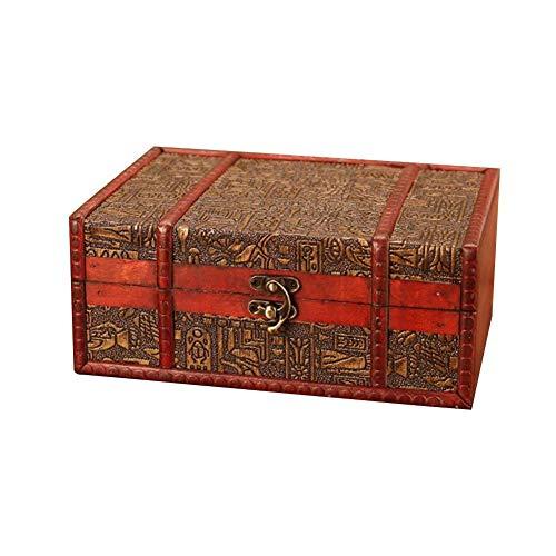 Brownrolly Retro antike Blume geschnitzt aus Holz Schmuck Aufbewahrungsbox, Briefmarken kleine Stamm Schatz Box, Schmuck Display Veranstalter Container Fall