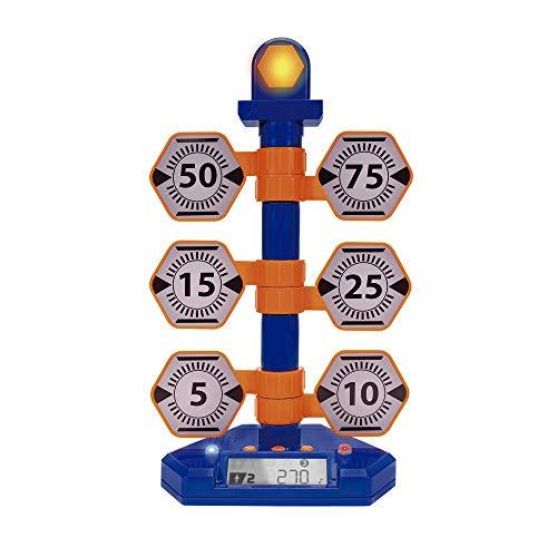Nerf Elite NER0205 Elite Bulls-Eye Digital Target, Elektronische Zielscheibe für Nerf Pistolen, Gewehre und Waffen, Turm mit 6 schwingenden Zielen und Zähler, mit Licht & Sound, für Kinder ab 8...