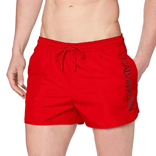 Calvin Klein Underwear Short Runner-Logo Bañador Flame Scarlet