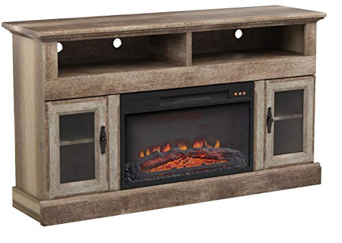 Better Homes and Gardens Crossmill Fireplace Media Console, Weathered Finish