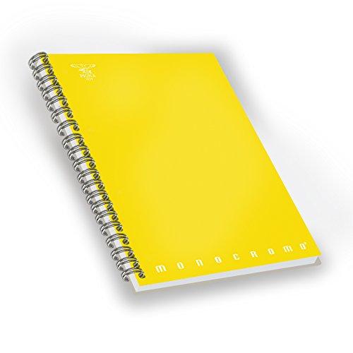 Pigna 02155601R - Paquete de 5 Cuadernos A5espiral sin agujeros y microperforazione, 70hojas multicolor