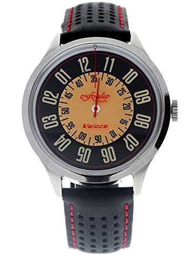 [トリフォグリオ] Trifoglio Italia VELOCE VL181SSBK 自動巻き 回転ディスク式 メンズ腕時計 イタリア製 ...