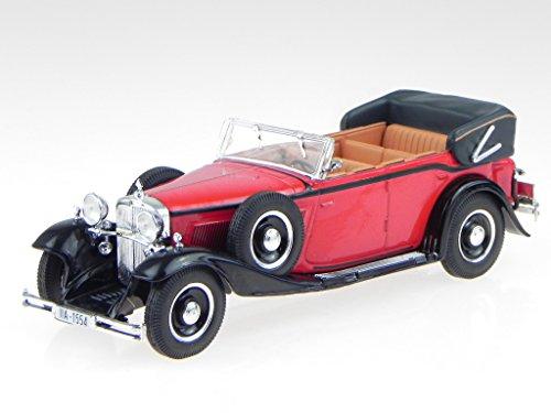 Maqueta de coche Maybach DS 8 Zeppelin 1930 rojo y negro WB058 Whitebox 1:43