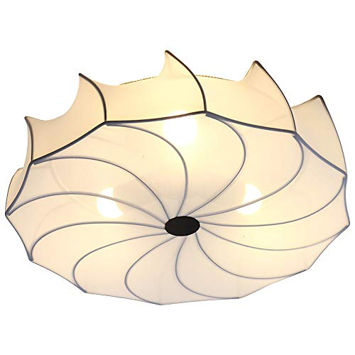 Kaper Go Lámpara de Techo nórdica Simple Lámpara de Tela Redonda Lámpara de Estudio de Dormitorio Moderna Moderna Japonesa y Coreana
