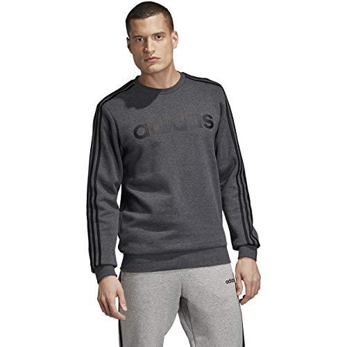 adidas male essentials stripes crewneck fleece