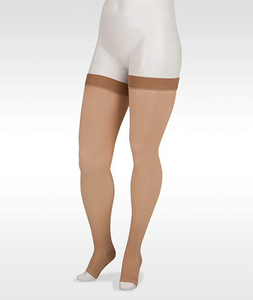 Juzo Basic 4411ag 20-30mmhg Thigh-High Toe Animer and Easy-to-use price revision Compression Stoc Open