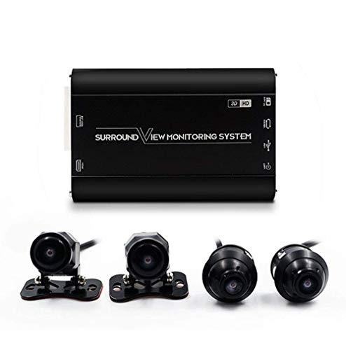 3D-Auto-Surround-Ansicht-ÜberwachungssystemMonitoring-Nachtsicht-Recorder Metallkamera Seitenansicht Kamera Einstellbarer Winkel Nahtlose Surround-Ansicht Digitaler Videorecorder Parksystem