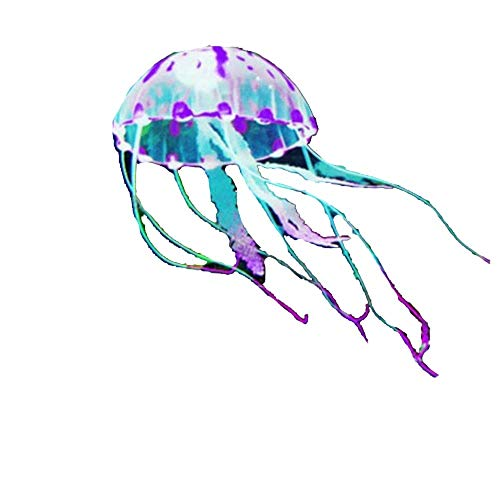 huixu Artificial Swim Glowing Effect Jellyfish Aquarium Decoration Fish Tank Underwater Live...