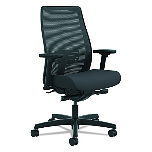 HON Endorse Mid-Back Task Chair - Mesh Back Computer Chair for Office Desk, Black (HLWM)