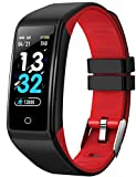 Viclover Fitness Tracker, Smart Pedometer Fitness Watch with Heart Rate Sleep Monitor for Android and iOS Phones, Calorie Counter, IP67 Waterproof, Activity Tracker for Women Men Kids (Red)