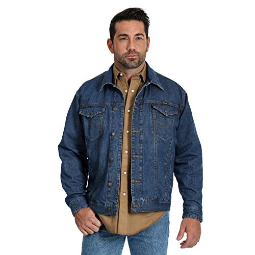 Wrangler Men's Concealed Carry Unlined Denim Jacket, Vintage Wash, XX-Large