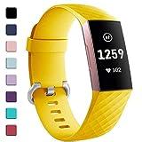 Zekapu pour Fitbit Charge 3 Bracelet, Classique Réglable Bracelet De Rechange avec Classique en Aluminium Boucle en Alliage...