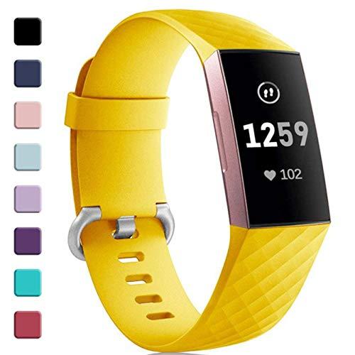 Zekapu voor Fitbit Charge 3 Band, Verstelbare Klassieke Vervangende PolsBand Vrouwen Mannen Band Compatibel voor Fitbit Charge 3/Charge 3 Special Edition