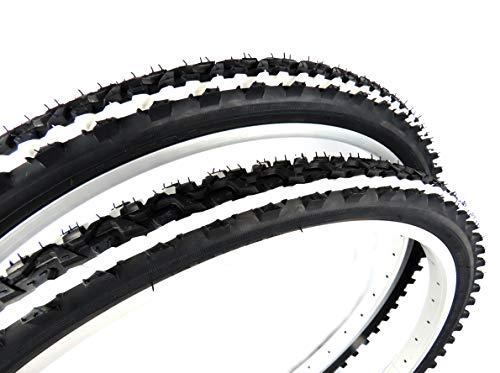 Pair of KENDA K849 MTB Bike Tyres, size 26 x 1.95, black with white...