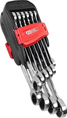 KS Tools 503.4250 GEARplus Ratschenringmaulschlüssel-Satz, Chrome satiné