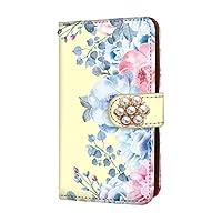 anve iPhoneXS iPhone XS 国内生産 カード スマホケース 手帳型 Apple アップル アイフォン テンエス (D.イエロー) (花デコ) 花柄 ボタニカル バラ best_vc-181-deco_sp