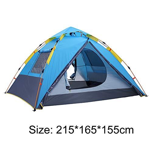 IU Outdoor-Automatik Zelt Für 2-3 Personen-Familien-Haus Eindickung Regenschutz Outdoor Park Camping Picknick Angeln Frei Zelt Quick Setup-Zelt Blue