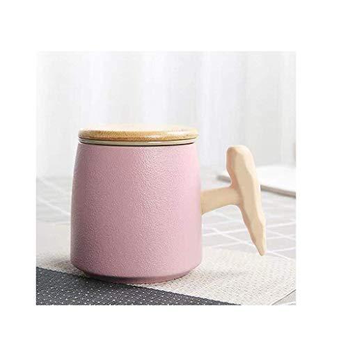 PIVFEDQX Exquisita Taza De Té Creativa De Cerámica De 350 Ml con Filtro De Tapa Taza De Té para El Hogar De La Oficina De Negocios Regalo para El Hogar (Color: Gris)