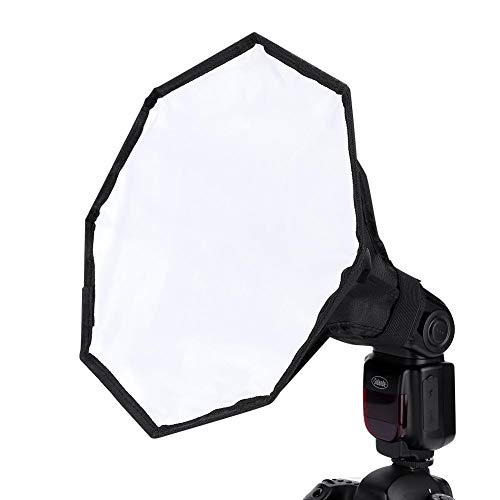 Tonysa Fotostudio Softbox, Tragbarer Universal Flash Flashlight Softbox, Externes Speedlite Diffusor Softbox mit 30cm Durchmesser, Gute Wahl für Fotografen mit einfache Installation