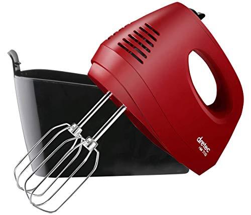 dretec(ドリテック) 【最新モデル】ハンドミキサースピード5段階切替 / 電源コード、ビーターが収納できるケース付き 泡立て HM-706RDDI(レッド)