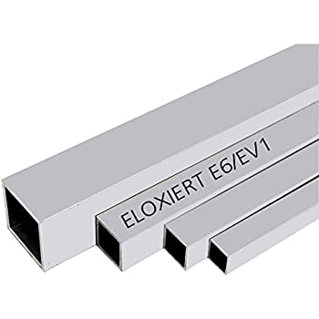25cm auf Zuschnitt L: 250mm Aluminium Rechteckrohr AW-6060-80x40x4mm