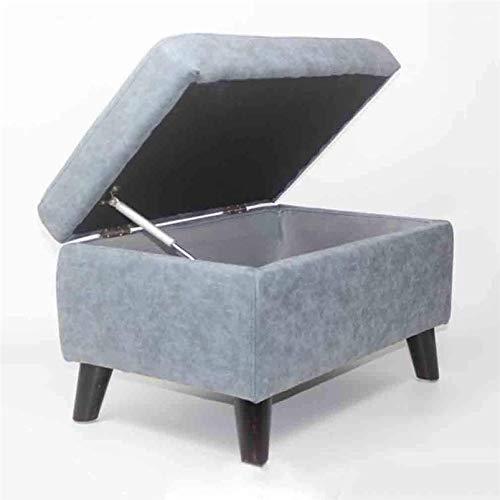 CHU N1 Polster Fußbank, Faux Matte Leder Lagerung Mit Aufzug Top Wohnzimmer Sofa Couchtisch Hocker 115 (Size : Light Blue)