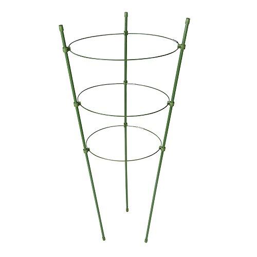 Silverline Tools 921382 - Supporto per piante a 3 ripiani, colore: Verde