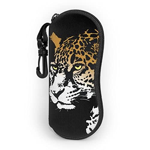 Jaguar Funda De Gafas- Ultra Ligero Neopreno Con Cremallera Almacenaje Lente Suave Gafas De Sol Estuche Con Clip De Cinturón Para Gafas
