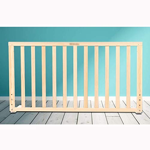 Great Price! Bed Rails Bumpers Bed Guard Rail King Size Bed Solid Wood Crib Guardrail Height 56-76cm...