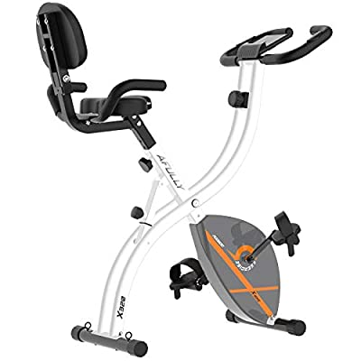Afully Folding Exercise Bike with Arm Workout Stationary Cycling Bikes