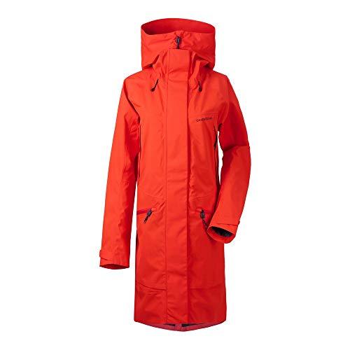 Didriksons W Ilma Parka 3 Rot, Damen Regenmantel, Größe 40 - Farbe Poppy Red