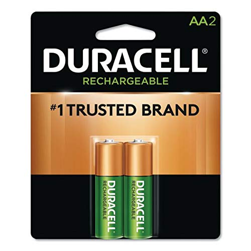 Duracell - Rechargeable AA Batteries - long lasting, all-purpose Double A battery for household and business - 2 count (Pack of 24)