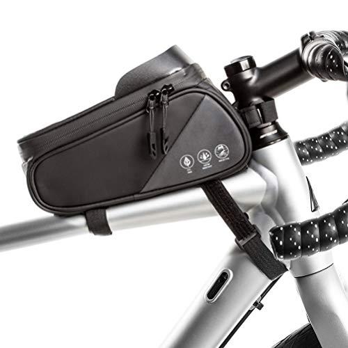 Mnsun Bolsa para cuadro de bicicleta resistente al agua con parasol y orificio para auriculares