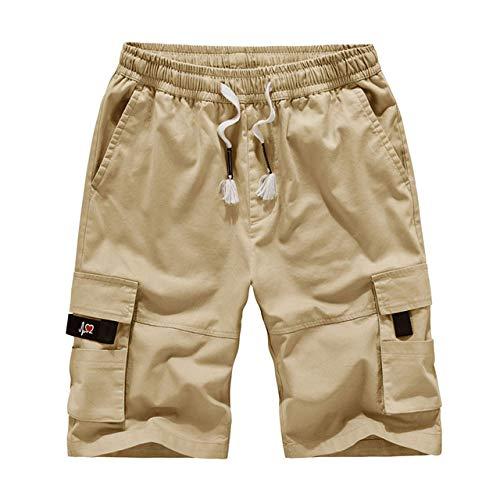 Nessuno Marca Mens Shorts Estate Camo Breve Sport Cotone Pantaloni della Tuta Uomini Camouflage Plus Size 6XL 7XL 8XL cachi XL