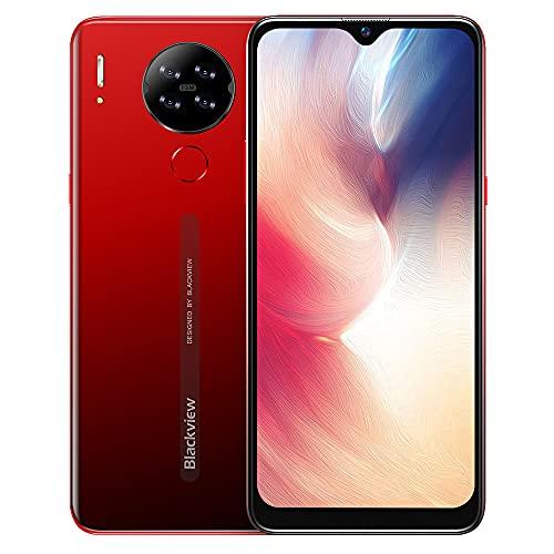 Blackview A80S (2021) Smartphone ohne Vertrag, 4GB + 64 GB Octa-Core 6,21 Zoll HD+ Waterdrop Display,4200mAh Akku 13MP Quad-Kamera, Face ID/Fingerabdruck/GPS, Android 10 Dual-SIM 4G Handy - Red