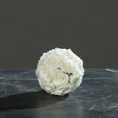 DPI Rosenkugel Blütenkugel Kunstblüten Dekokugel Rosen Kugel Ø 12 cm creme