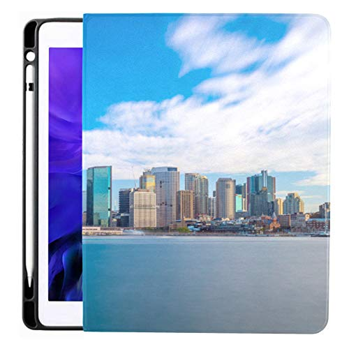 Ipad Pro 12.9 Case 2020 & 2018 With Pencil Holder Downtown Sydney Skyline Blue Sky Australia Smart Cover Ipad Case, Supports 2nd Gen Pencil Charging,case For 2020 Ipad Pro 12.9 Cover With Auto Sleep/