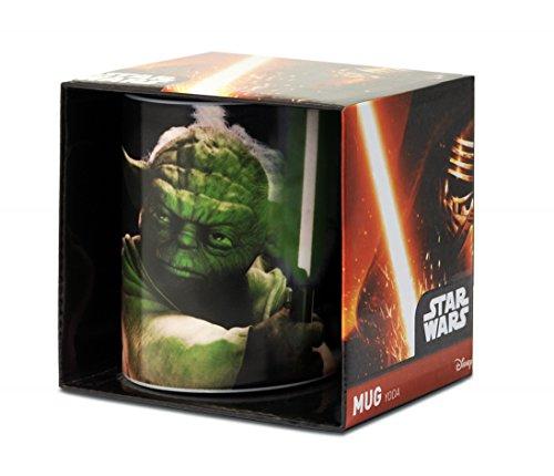 Logoshirt Yoda Taza de Cafe - La Guerra de Las Galaxias - Star Wars Taza - Maestro de Jedi Taza para Té - Multicolor - Diseño Original con Licencia