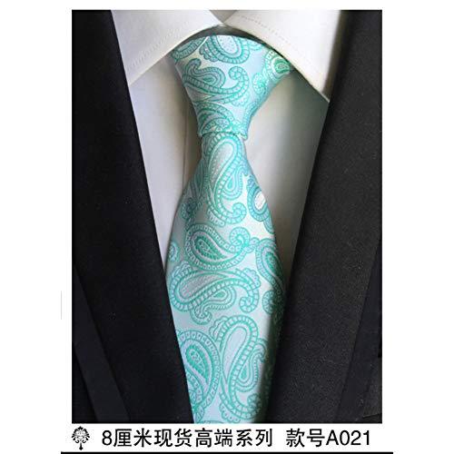 YUFSHU 100% Zijde Dikke Doek Paisley Tie voor Heren Neckties Ontwerpers Mode Mannen Ties 8Cm Navy en Rood Gestreepte Tie Bruidsjurk A021