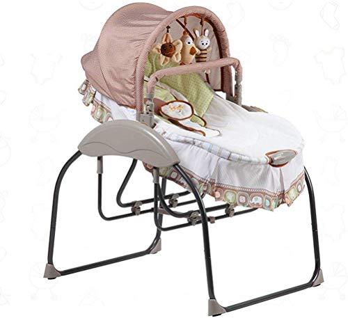 WWWWW elektrische schommelstoel voor baby's, bluetooth-muziek, zesvoudige schommel, drievoudig getimed ligstoel, comfortabele en casual kinderwieg