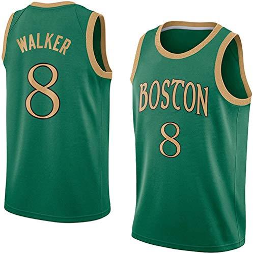 # 8 Kemba Walker Boston Celtics Basketball Jerseys, Bordado Casual Deportes Entrenamiento de Deportes Transpirable Jersey para los fanáticos para niños para Hombre (Color : Green, Size : X-Large)