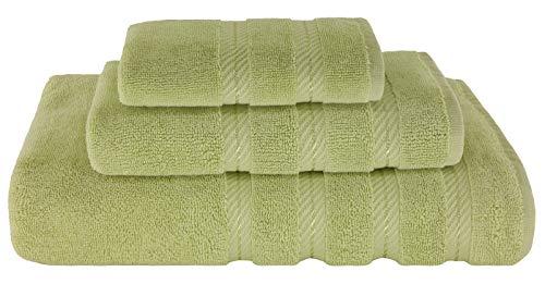 American Soft Linen 3 Piece, 100% Turkish Genuine Cotton Premium & Luxury Towels Bathroom Sets, 1 Bath Towel 27x54 inch, 1 Hand Towel 16x28 inch & 1 Washcloth 13x13 inch [Worth $36.95] Pistachio Green