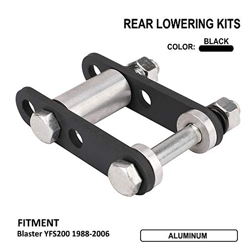 "JFG RACING CNC Aluminum ATV Kit de reducción Trasera de 5""suspensión Inferior para Yamaha Blaster YFS200 1988-2006"
