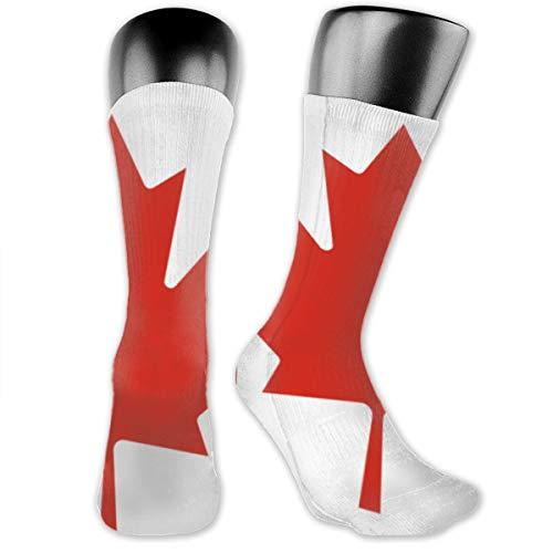 Flag of Canada Cushion Crew Socken Workout Training Wandern Walking Athletic Sport Socken für Männer und Frauen Sneaker Low Cut Socken