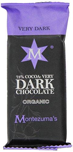 Montezuma's Chocolate Organic 73% Very Dark Chocolate Mini Bar 30g (Pack of 26)